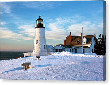 Pemaquid Point Lighthouse Canvas Print by Eric Gendron