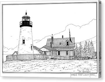 Pemaquid Point Lighthouse Canvas Print by Ira Shander