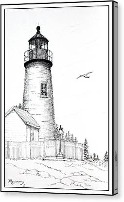 Pemaquid Point Lighthouse Canvas Print by Mariarosa Rockefeller