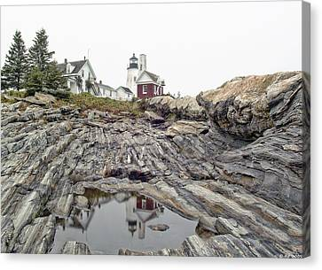 Canvas Print featuring the photograph Pemaquid Point Lighthouse by Richard Bean