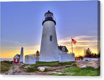 Rocky Maine Coast Canvas Print - Pemaquid Sentential by Gregory W Leary