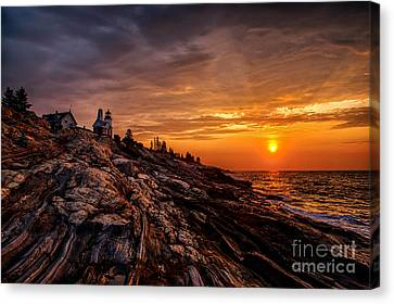 Pemaquid Sunrise  Canvas Print by Jerry Fornarotto