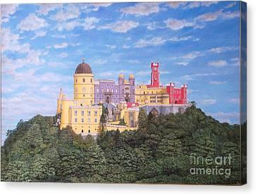 Pena Palace Sintra - Palacio De Pena Sintra Canvas Print by Carlos De Vasconcelos Tavares