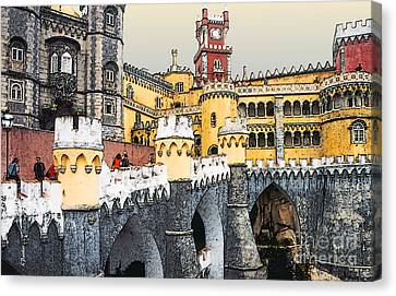 Pena Palace - Sintra Portugal Canvas Print by Linda  Parker