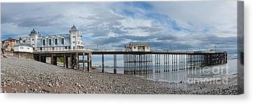 Penarth Pier Panorama 1 Canvas Print by Steve Purnell