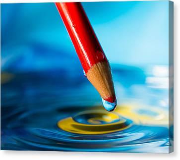 Pencil Water Drop Canvas Print