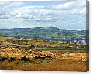 Pendle Hill Lancashire Canvas Print by Jane McIlroy
