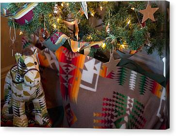 Canvas Print featuring the photograph Pendleton Christmas by Patricia Babbitt