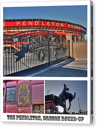 Pendleton Round-up Canvas Print by David Bearden