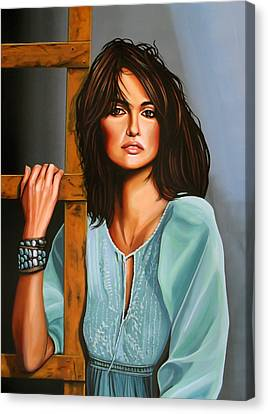 Mango Canvas Print - Penelope Cruz by Paul Meijering