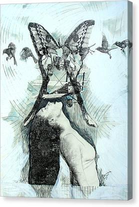 Penelope Pilot Canvas Print by Elizabeth D'Angelo