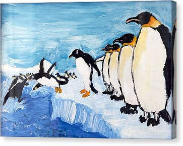 Penguins Canvas Print by Ethan Altshuler