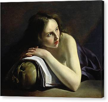 Penitent Magdalen Oil On Canvas Canvas Print by Paulus Moreelse