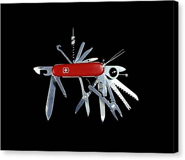 Penknife Canvas Print by Science Photo Library