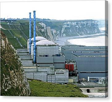 Penly Nuclear Power Station Canvas Print by Martin Bond