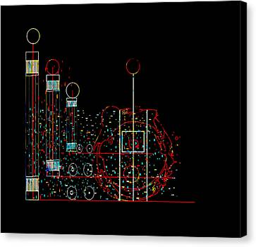 Canvas Print featuring the painting Penman Original - Recycled Art 2 by Andrew Penman