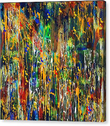 Canvas Print featuring the painting Penman Original - Untitled 98 by Andrew Penman