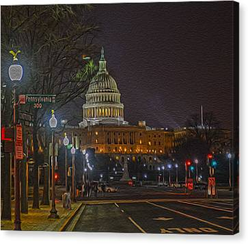 Penn Ave Canvas Print