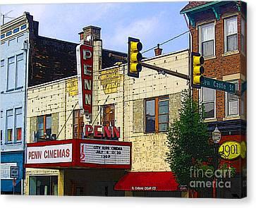 Penn Cinemas In Ohiopyle Canvas Print by Nina Silver