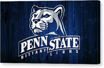 Lions Canvas Print - Penn State Barn Door by Dan Sproul