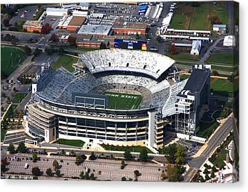 Penn State Beaver Stadium Aerial Canvas Print by Mattucci Photography