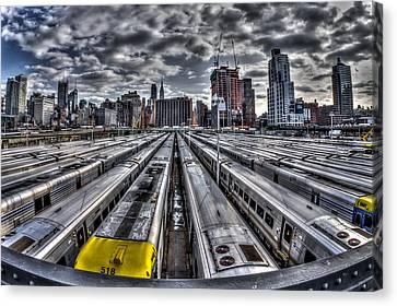 Penn Station Train Yard Canvas Print by Rafael Quirindongo
