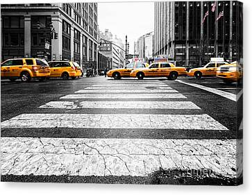Penn Station Yellow Taxi Canvas Print by John Farnan