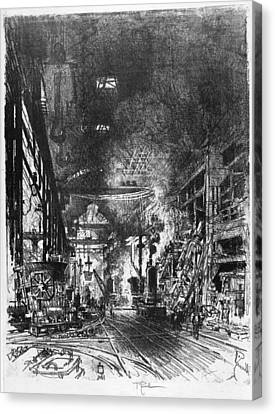 Pennell Furnaces, 1916 Canvas Print