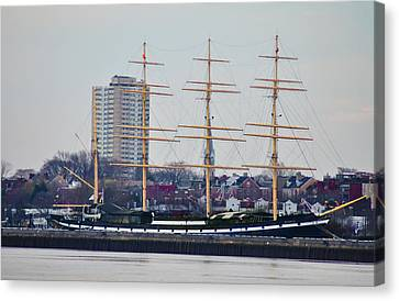 Penns Landing - The Mushulu Canvas Print by Bill Cannon