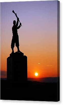 Canvas Print featuring the photograph Pennsylvania 72nd Memorial by James Kirkikis