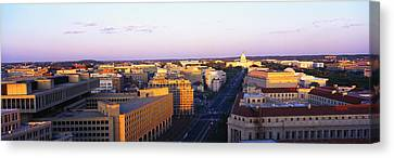 Pennsylvania Ave Washington Dc Canvas Print by Panoramic Images