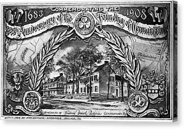 Pennsylvania Germantown Canvas Print by Granger
