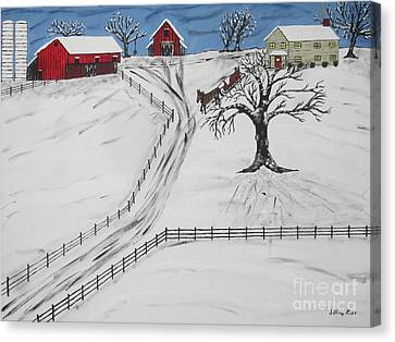 Pennsylvania Sleigh Ride Canvas Print by Jeffrey Koss