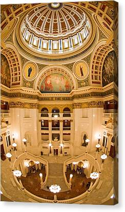 Pennsylvania State Capitol Dome And Rotunda Canvas Print by Frank Tozier