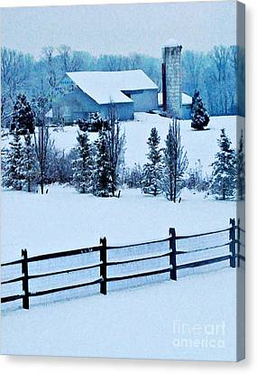 Pennsylvania Winter Canvas Print by Sarah Loft