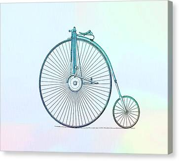 Penny-farthing Bicycle Color Canvas Print by Dan Sproul