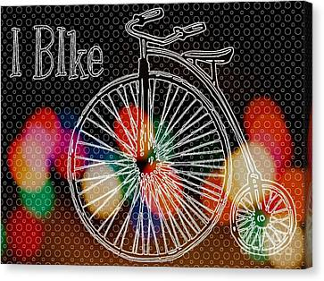 Penny Farthing Bicycle  Canvas Print by Daryl Macintyre