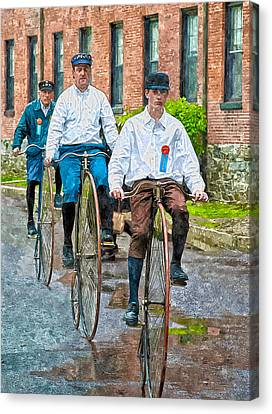Penny-farthing Bikes Canvas Print