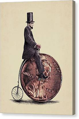 Hat Canvas Print - Penny Farthing by Eric Fan