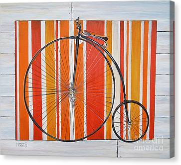 Penny-farthing Canvas Print by Marilyn  McNish