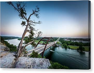 Pennybacker Bridge Austin Canvas Print by David Morefield