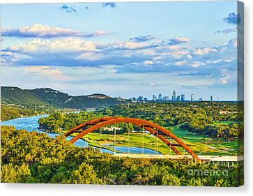 Austin Skyline Canvas Print - Pennybacker Bridge Austin Texas by Tod and Cynthia Grubbs