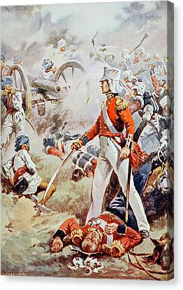 Bravery Canvas Print - Pennycuick Was Killed His Gallant Son by Walter Stanley Paget