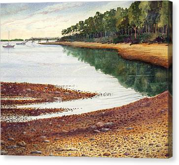 Canvas Print featuring the painting Penobscot Bay by Roger Rockefeller