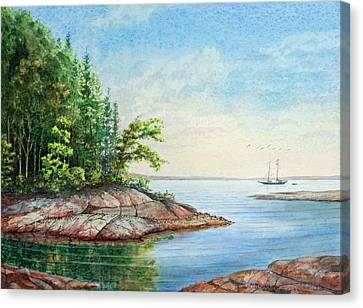 Penobscot Inlet Canvas Print by Roger Rockefeller