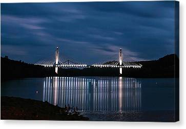 Penobscot Narrows Bridge And Observatory At Night Canvas Print