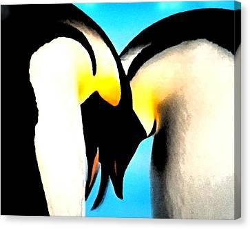 Penquin Love Dance Canvas Print by Colette V Hera  Guggenheim