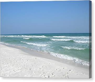 Canvas Print featuring the photograph Pensacola Beach by Alan Lakin
