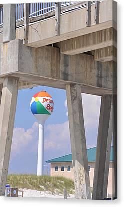 Pensacola Beach Ball And Pier Canvas Print
