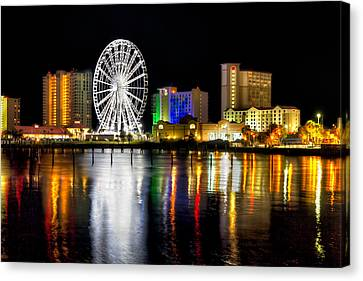 Canvas Print featuring the photograph Pensacola Beach Skyline by Tim Stanley